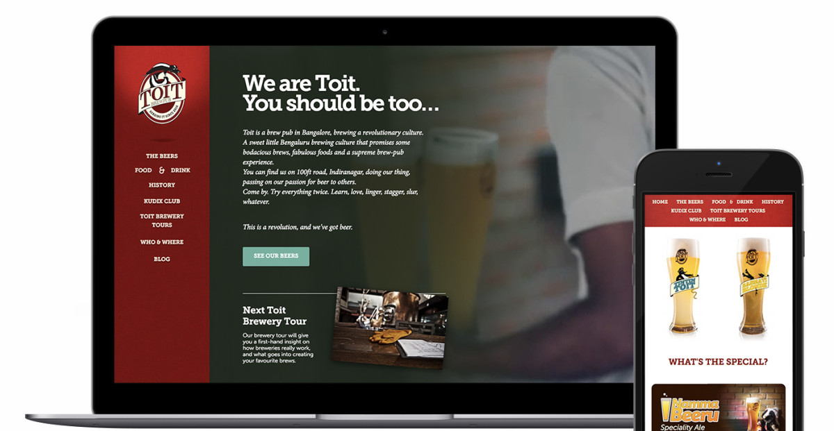 Screenshot of Toit Brew Pub by The Random Lines