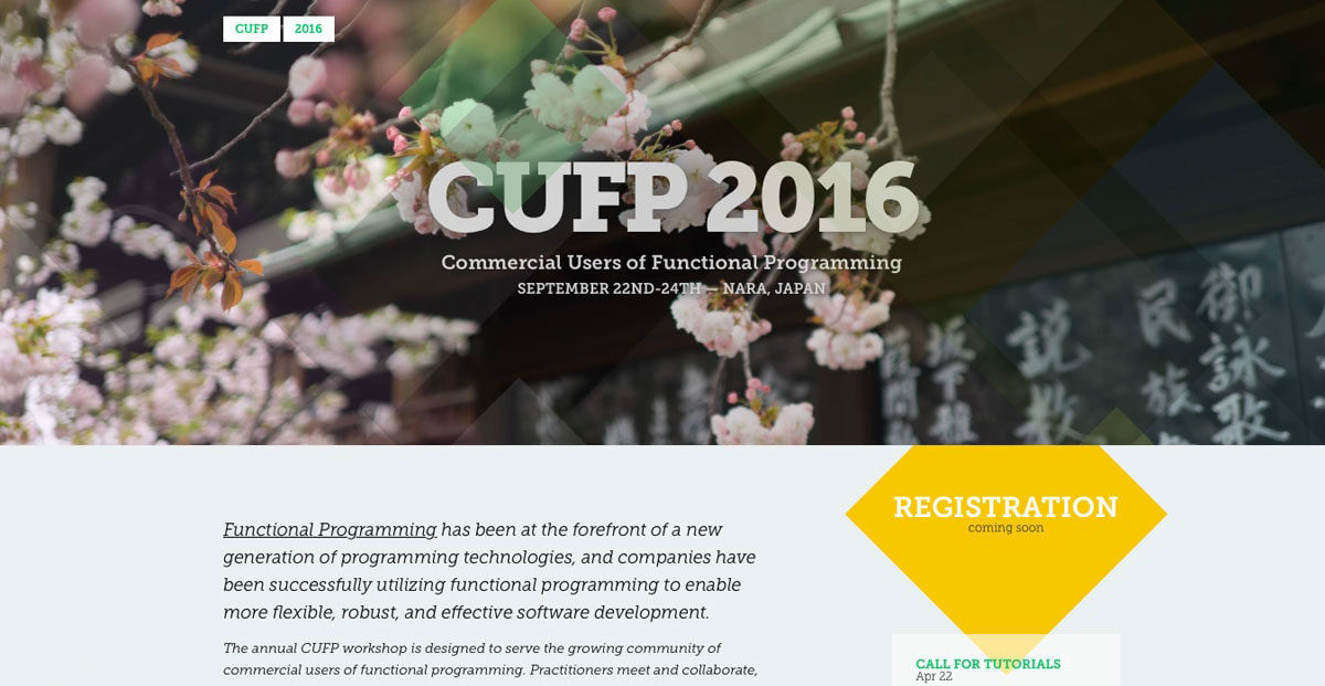 Screenshot of CUFP Workshop by The Random Lines